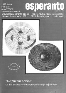 Esperanto : revuo internacia : oficiala organo de Universala Esperanto Asocio. Jaro 80, n. 977 (1987)