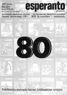 Esperanto : revuo internacia : oficiala organo de Universala Esperanto Asocio. Jaro 80, n. 978 (1987)