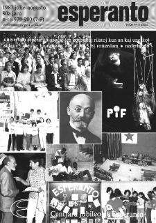 Esperanto : revuo internacia : oficiala organo de Universala Esperanto Asocio. Jaro 80, n. 979/980 (1987)