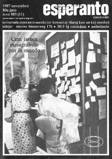 Esperanto : revuo internacia : oficiala organo de Universala Esperanto Asocio. Jaro 80, n. 983 (1987)
