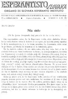 Esperantisto Slovaka. Jarkolekto 4, No 8/9=38/39 (1949)