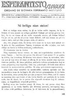 Esperantisto Slovaka. Jarkolekto 4, No 10/11=40/41 (1949)