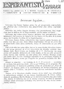 Esperantisto Slovaka. Jarkolekto 5, No 1/2 (1950)