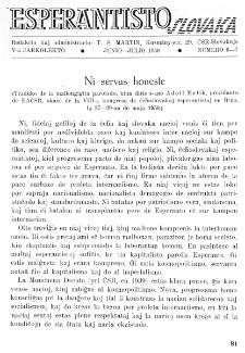 Esperantisto Slovaka. Jarkolekto 5, No 6/7 (1950)