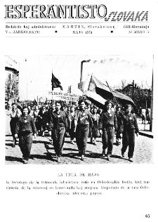 Esperantisto Slovaka. Jarkolekto 6, No 5 (1951)