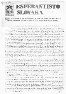 Esperantisto Slovaka. No 4 (1970)