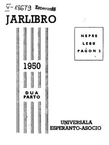 Oficiala Jarlibro / Universala Esperanto Asocio. 1950 (Dua Parto)