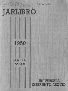 Oficiala Jarlibro / Universala Esperanto Asocio. 1950 (Unua Parto)