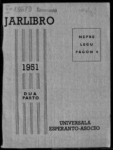 Oficiala Jarlibro / Universala Esperanto Asocio. 1951 (Dua Parto)