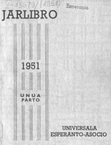 Oficiala Jarlibro / Universala Esperanto Asocio. 1951 (Unua Parto)
