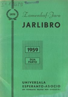 Oficiala Jarlibro / Universala Esperanto Asocio. 1959 (Dua Parto)