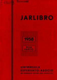 Oficiala Jarlibro / Universala Esperanto Asocio. 1958 (Dua Parto)