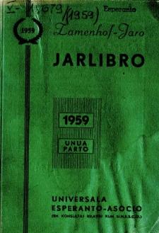 Oficiala Jarlibro / Universala Esperanto Asocio. 1959 (Unua Parto)