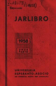 Oficiala Jarlibro / Universala Esperanto Asocio. 1958 (Unua Parto)