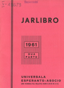 Oficiala Jarlibro / Universala Esperanto Asocio. 1961 (Dua Parto)
