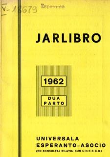 Oficiala Jarlibro / Universala Esperanto Asocio. 1962 (Dua Parto)