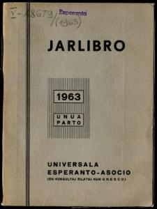 Oficiala Jarlibro / Universala Esperanto Asocio. 1963 (Unua Parto)