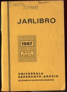 Oficiala Jarlibro / Universala Esperanto Asocio. 1967 (Dua Parto)