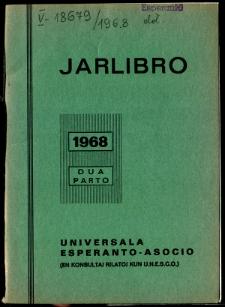 Oficiala Jarlibro / Universala Esperanto Asocio. 1968 (Dua Parto)