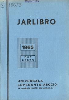 Oficiala Jarlibro / Universala Esperanto Asocio. 1965 (Dua Parto)