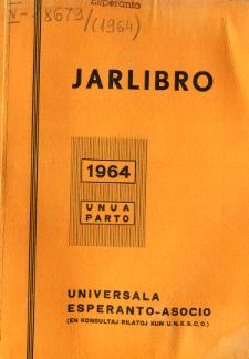 Oficiala Jarlibro / Universala Esperanto Asocio. 1964 (Unua Parto)