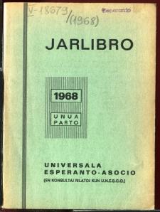 Oficiala Jarlibro / Universala Esperanto Asocio. 1968 (Unua Parto)