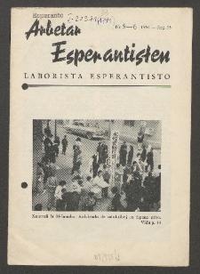 Arbetar Esperantisten = Laborista Esperantisto. Jaro 33. no. 5/6 (1954)