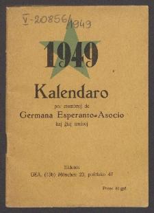 Kalendaro por membroj de Germana Esperanto Asocio kaj Viaj Amikoj. 1949