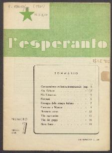 L'Esperanto. Anno 28, no 7 (1951)