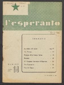 L'Esperanto. Anno 29, no 14 (1952)