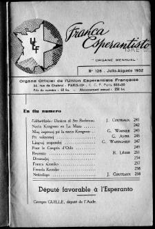 Franca Esperantisto.No 126 (1952)
