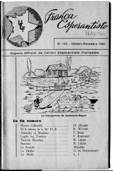 Franca Esperantisto.An. 18, No 122 (1951)