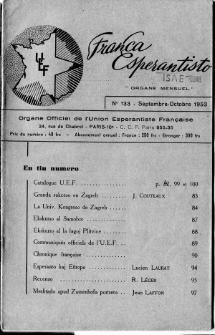 Franca Esperantisto.No 133 (1953)