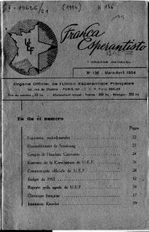 Franca Esperantisto.No 136 (1954)