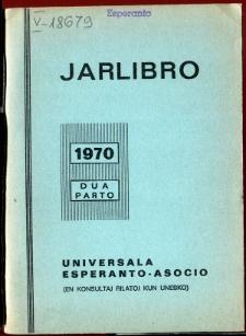 Oficiala Jarlibro / Universala Esperanto Asocio. 1970 (Dua Parto)