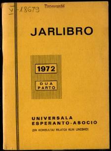 Oficiala Jarlibro / Universala Esperanto Asocio. 1972 (Dua Parto)