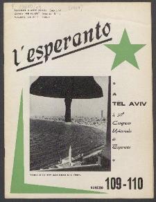 L'Esperanto. Anno 45, no 109/110 (1967)