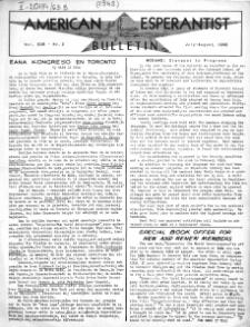 Amerika Esperantisto. Vol. 63B, No 2 (1948)