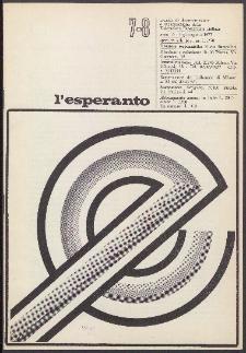 L'Esperanto. Anno 55, no 7/8 (1977)