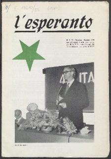 L'Esperanto. Anno 52, no 11/12 (1974)