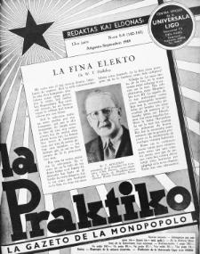 La Praktiko : la gazeto, kiu instruas kaj amuzas. Jaro 13a, nr 8/9=142/143 (1949)