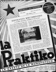 La Praktiko : la gazeto, kiu instruas kaj amuzas. Jaro 16a, nr 7/8=177/178 (1952)