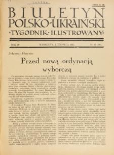Biuletyn Polsko-Ukraiński. T. 4, R. 4, nr 22=109 (2 Czerwca 1935)