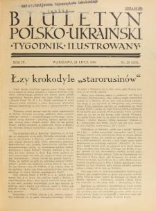 Biuletyn Polsko-Ukraiński. T. 4, R. 4, nr 29=116 (21 Lipca 1935)