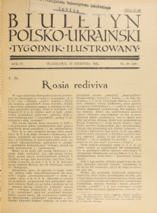 Biuletyn Polsko-Ukraiński. T. 4, R. 4, nr 33=120 (18 Sierpnia 1935)