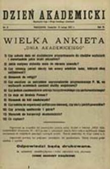 """Dzień Akademicki : bezpłatny dodatek do """"Dnia Polskiego"""" / [red. Jerzy Giedroyć]"""