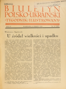 Biuletyn Polsko-Ukraiński. T. 4, R. 4, nr 13=100 (31 Marca 1935)