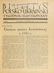 Biuletyn Polsko-Ukraiński. T. 4, R. 4, nr 16-17 =103-104 (21 Kwietnia 1935)
