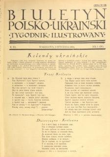 Biuletyn Polsko-Ukraiński. T. 3, R. 3, nr 1=36 (7 Stycznia 1934)