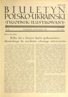 Biuletyn Polsko-Ukraiński. T. 3, R. 3, nr 4=39 (28 Stycznia 1934)